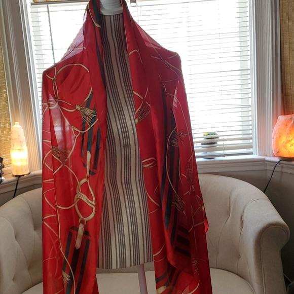 Women's Silk Feeling Scarf Oversized  Shawl Wrap